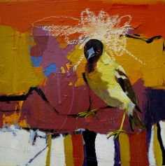 Painting-Oil-Jennifer Rasmusson: Dancing to my own song Cool Paintings, Crafty Projects, Bird Feathers, Creative Inspiration, Animal Pictures, Dancing, Abstract Art, Wildlife, Birds