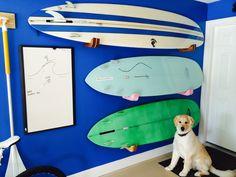 Hobbies is posing with our Surfboard Racks!