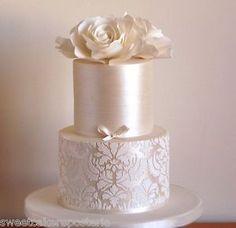 Big Damask Lotus Cake Stencil for Wedding Cakes Plantilla Para Tarta de Fondant | eBay