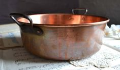 Vintage Rustic French Kitchen Solid Copper by shabbyfrenchvintage