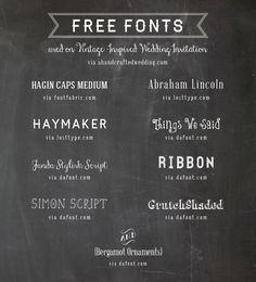 free-fonts-used-on-vintage-inspired-wedding-invitation-ahandcraftedwedding
