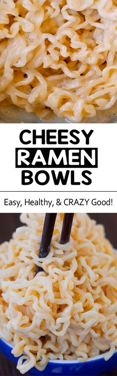 One of my favorite healthy dinner recipes that's easy to make and surprisingly vegan too, this cheesy ramen