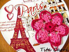 Motivo em crochet Flor Francesa