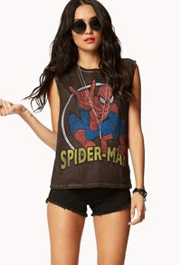 Forever 21 Spiderman Muscle Tee