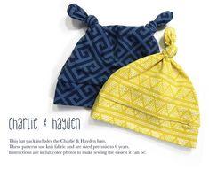Knot Hat Set Charlie and Hayden PDF Sewing by SpitUpandStilettos