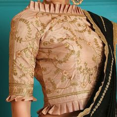12 High Neck Blouse Designs In Varied Necklines, Collars – Lifestyle Blouse Designs High Neck, Best Blouse Designs, High Neck Blouse, Pattu Saree Blouse Designs, Sari Blouse, Peplum Blouse, Collar Blouse, Traditional Blouse Designs, Blouse Designs Catalogue