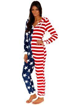 Felisity American Flag Onesie - Onesies - Missguided