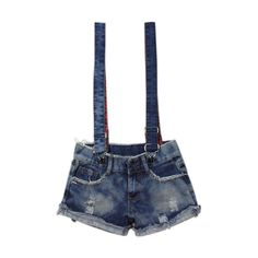 Straps Fashion Denim Shorts ($32) ❤ liked on Polyvore featuring shorts, bottoms, pants, short, slim denim shorts, slim jean shorts, patch pocket shorts, patch shorts and short shorts