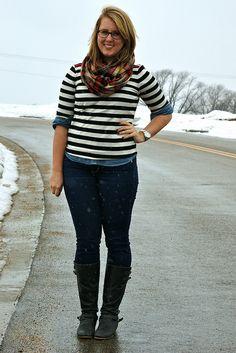 double denim + stripes by Franishh, via Flickr    have both shirts