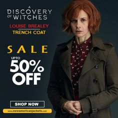Be sunday comfy by styling A Discovery of Witches Louise Brealey Trench Coat a classic wear to stand out among the style casters. For more inspiration visit to get celeb look alike. Trench Coat Sale, Louise Brealey, A Discovery Of Witches, Look Alike, Celebs, Celebrities, Going Crazy, Halloween Fun, Latest Fashion