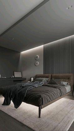 Black Master Bedroom, Black Bedroom Design, Bedroom False Ceiling Design, Bedroom Wall Designs, Luxury Bedroom Design, Master Bedroom Interior, Room Design Bedroom, Bedroom Furniture Design, Bedroom Layouts