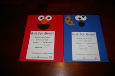 Grant's 2nd birthday invitations