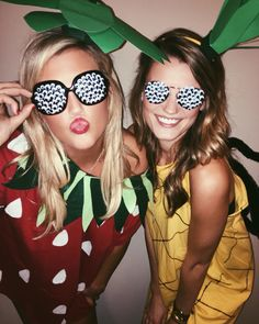 Halloween costume #halloween #halloweencostume #pineapple #strawberry #costume #fruitflies