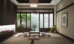 Minimalist Home Inspiration Decor minimalist home design exterior.Minimalist Home Office Organization. Zen Living Rooms, Japanese Living Rooms, Japanese Bedroom, Japanese Home Decor, Asian Home Decor, Japanese House, Japanese Decoration, Japanese Furniture, Small Living