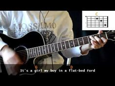 The Eagles - Take It Easy Guitar Cover With Lyrics Chords Lesson - YouTube