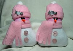 I just listed CHRISTMAS DECORATION SNOWMAN ORNAMENT Snowman Decoration in Light Pink Set of 2 on The CraftStar @TheCraftStar #uniquegifts