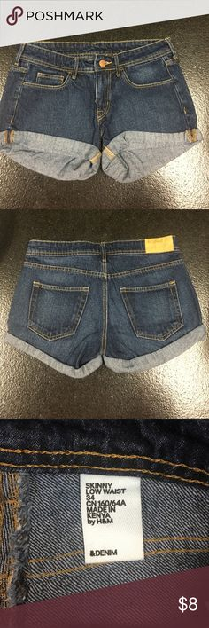 H&M Denim Shorts These were worn by a small. I don't understand their sizing apparently. See picture of tag. H&M Shorts