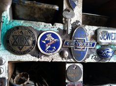 Vintage car emblems Dodge Brothers. Star Four, Chevrolet  Jewett, and Ford  Star Four, Durant Motors in operation from 1929 - 1933  The Jewett was an automobile built in Detroit, Michigan by the Paige-Detroit Motor Car Company from March 1922 through December 1926