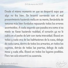 24 de marzo de 2017 : #MicrocuentoZ #: #microcuento #microcuentos #microcuentos2017 #microrrelato  #apuntesdediario #cuento #breve #literatura #relato #texto #text #artistsoninstagram  #marzo #march #201703 #mediodia #noon #ausencia #soledad #tristeza