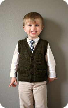 Tycoon Vest - would be super cute on Keaton but may be above my knitting abilities.