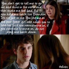 "#TheFosters 3x12 ""Mixed Messages"" - Callie and Brandon"