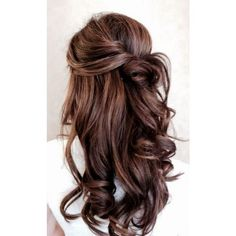 55+ Stunning Half Up Half Down Hairstyles ❤ liked on Polyvore featuring beauty products, haircare, hair styling tools, hair, hair styles, hairstyles and frisuren