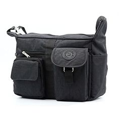Womens Black Shoulder Bags Casual Handbag Travel Bag Messenger Cross Body Nylon Bags >>> Check out the image by visiting the link.