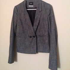 Grey blazer PERFECT CONDITION. Grey blazer with 2 black buttons for closure. Has pockets. BDG by Urban Outfitters Urban Outfitters Jackets & Coats Blazers