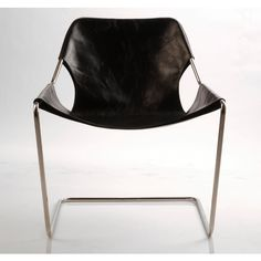 "The ""Paulistano"" armchair is comprised of a single bent piece of steel with a canvas or leather sling cover, outstanding in its comfort as well as in its visual lightness. Originally designed in 1957 by Pritzker prize laureate Paulo Mendes da Rocha, the ""Paulistano"" armchairs were once part of the living room of the Athletic Club, in São Paulo, later being included in the collection of the Museum of Modern Art, in New York."