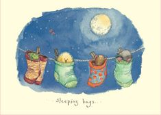 IF125 Sleeping Bags - A Two Bad Mice card by Fran Evans