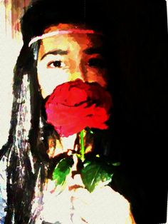 red rose and me;))))