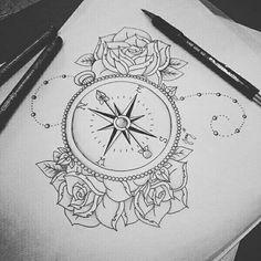 Imagem de rose, art, and drawing