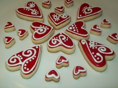 Valentine hearts cookies by Jillfcs