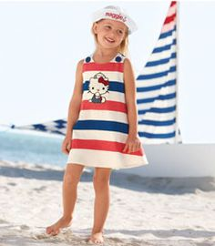 hello kitty® striped dress