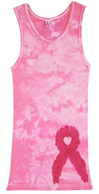 Pink Ribbon Tie-Dye Tank Top at The Breast Cancer Site
