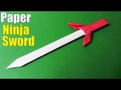 How to make a Paper Sword | Ninja Sword Tutorial - YouTube