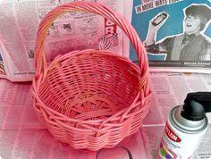 πασχαλινες κατασκευες-καλαθακια με τουλι για το Πασχα-Γενεθλια