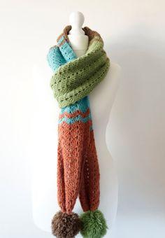 Long scarf crochet pattern land girl wartime by LittleDoolally