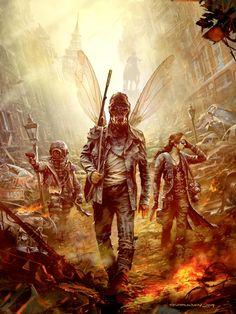 """Mutant: Year Zero"" - post apocalyptic art by Ola Larsson"
