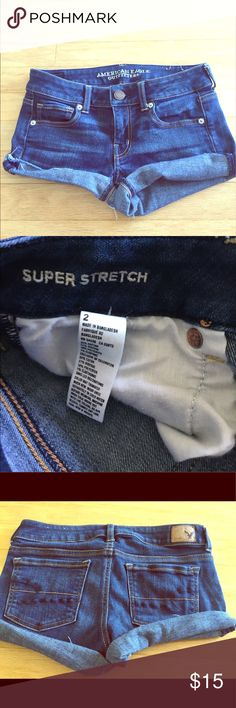American Eagle shorts Jean shorts, American Eagle, size 2, stretchy American Eagle Outfitters Shorts Jean Shorts