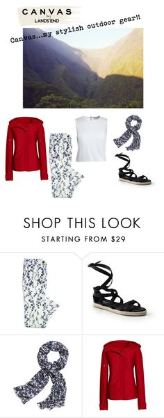 """""""Paint Your Look With Canvas by Lands' End: Contest Entry"""" by etalage-reno ❤ liked on Polyvore featuring Lands' End and Canvas by Lands' End"""