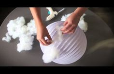 WATCH: She Glues Some Cotton Onto A Lantern, But The Real Magic Happens When The Lights Go Off