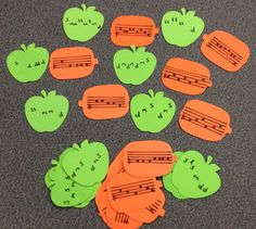Apple and Pumpkin Melody Match (Solfège) Music Lesson Plans, Music Station, Music Activities, Holiday Activities, Piano Teaching, Music Classroom, Music Teachers, Music Education, Physical Education