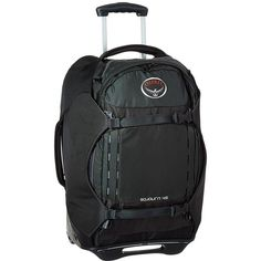 Osprey Sojourn 22/45L (Flash Black) Backpack Bags ($300) ❤ liked on Polyvore featuring bags, backpacks, oversized backpacks, padded backpack, day pack backpack, large zip bags and bear backpack