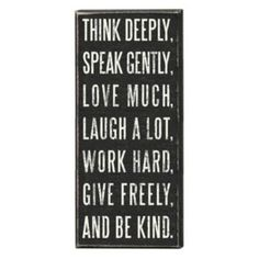 ''Think Deeply'' Wall Plaque