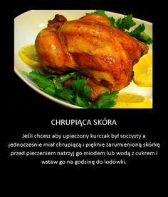 Trik na chrupiącą skórkę kurczaka Polish Recipes, Good Advice, Poultry, Food And Drink, Turkey, Menu, Dishes, Chicken, Drinks