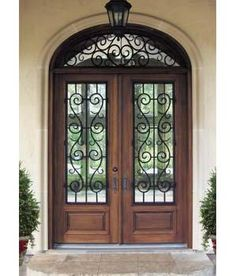 Timber And Wrought Iron Front Entry Door Idea Dream House - Wrought iron front door