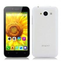 ZOPO ZP600+ 4.3 Inch 3D Android Phone - Sharp ASV 3D Screen, Quad Core CPU, Dual Camera (White)