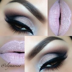 elymarino gets flirty #smokyeye #lips #nude