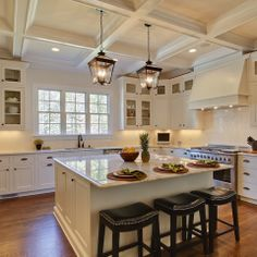 Shiloh cabinets in soft white (Otrada LLC - traditional - kitchen - raleigh - Tad Davis Photography)